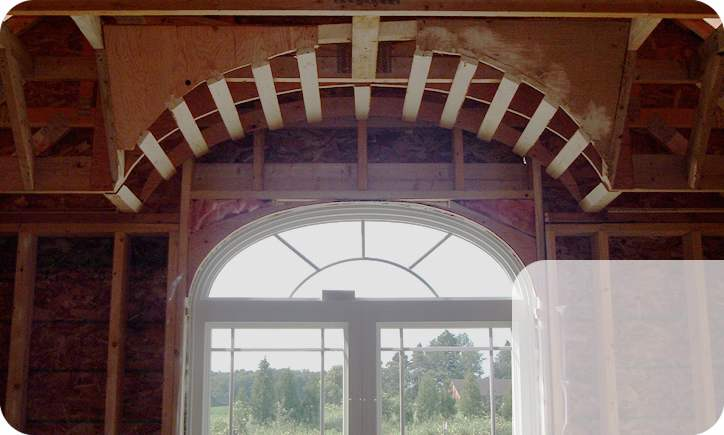 Arched ceiling construction